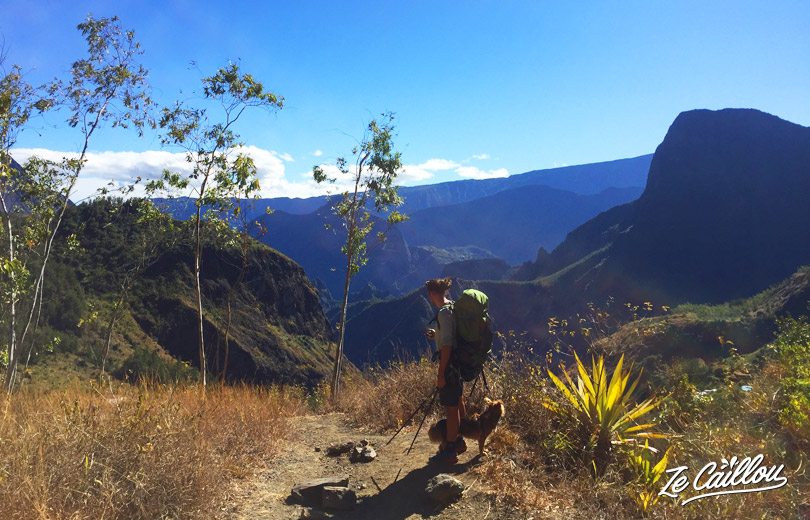 Unstanding points of view during the hike from Roche Plate to Marla for our GRR2 Day 5 in Mafate.