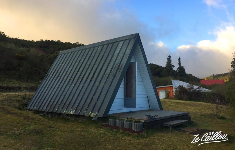 Notre petit bungallow, le bourbon pointu, pour passer une nuit au chaud pendant le GGR2 à la Réunion.