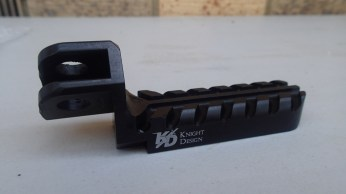 "Knight Design lowered foot peg (1-3/8"" lowered)"