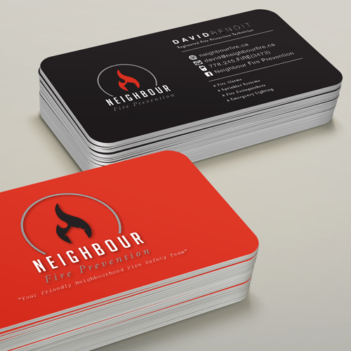 Neighbourhood Fire Prevention Business Cards