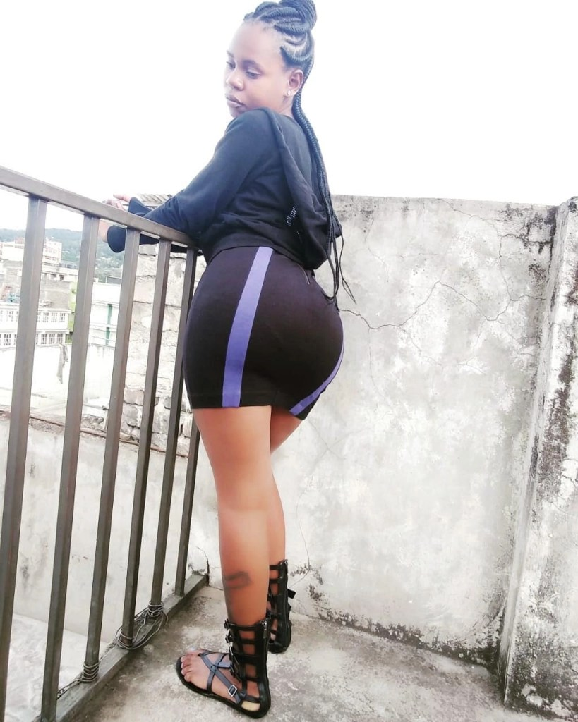 Chebet Pinky Banda shows off her onion booty