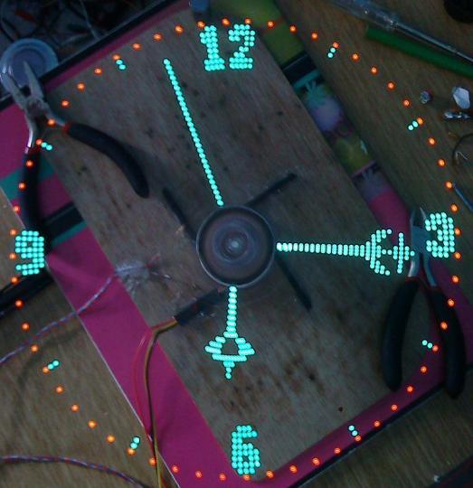 Giant DIY POV Clock!