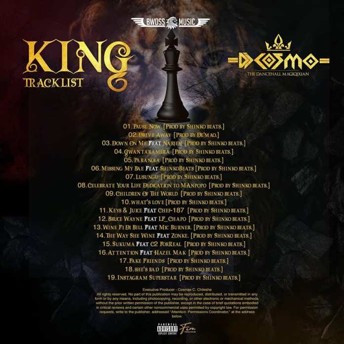 DJ Cosmo - King Album Tracklist