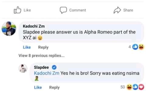 Slap Dee's response towards Alpha Romeo's signing