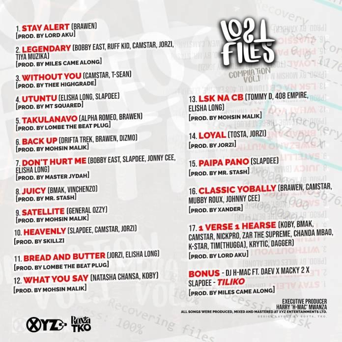 DJ Hmac - Lost Files Tracklist