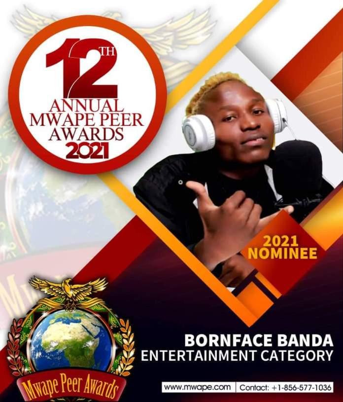 Zerub nominated for the Mwape Peer Awards