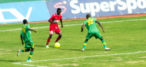 Sate Sate (30-30) managing his skill against a Zesco defenders