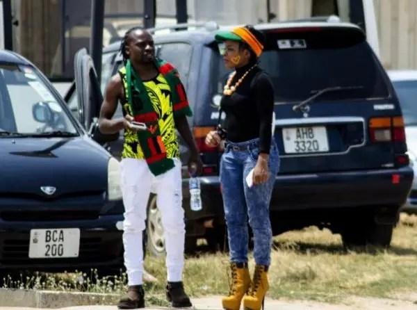Fan in the Zambian football scene