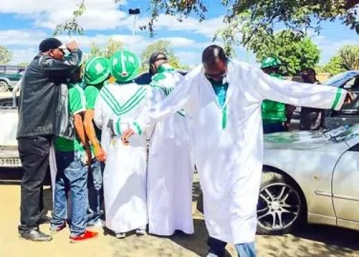 Mufulira Wanderers fans in Lusaka