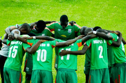 Zesco united during Charity shield cup