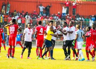 A small disturbance during the Nkana and Zanaco tensioned game