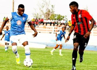 Kabwe Warriros striker during Barclays cup 2016