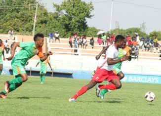 Festus Mbewe in action against Zesco united