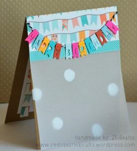Colourful Birthday Banner Card