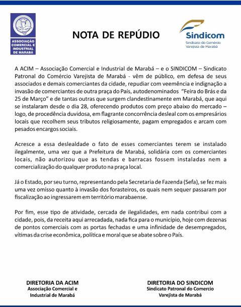 ACIM NOTA DE REPÚDIO