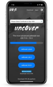 U04S Store provides the ability to install Unc0ver jailbreak for your device.