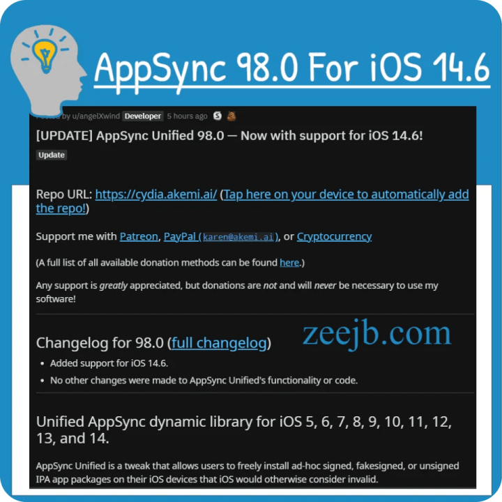 AppSync Unified 98.0 — Now with support for iOS 14.6! iOS 5, 6, 7, 8, 9, 10, 11, 12, 13, and 14.