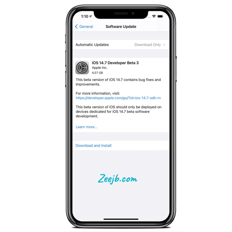 iOS 14.7 Developer beta 3 download links free