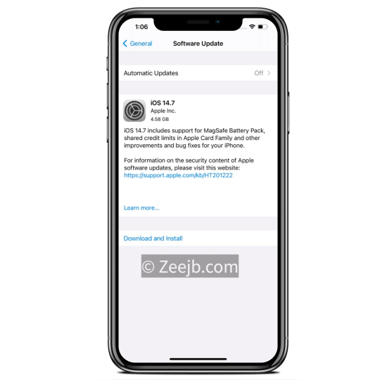 iOS 14.7 public released. download free