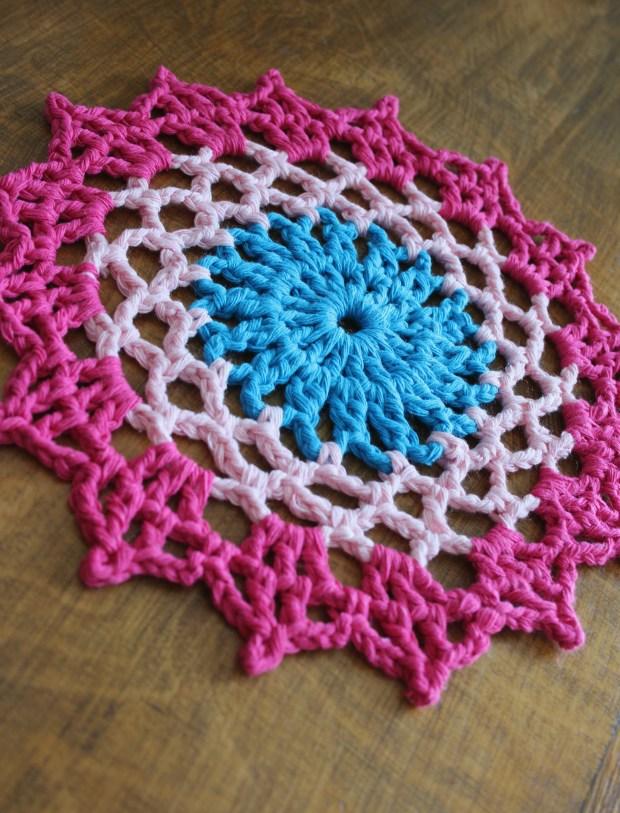 Cotton crochet doily