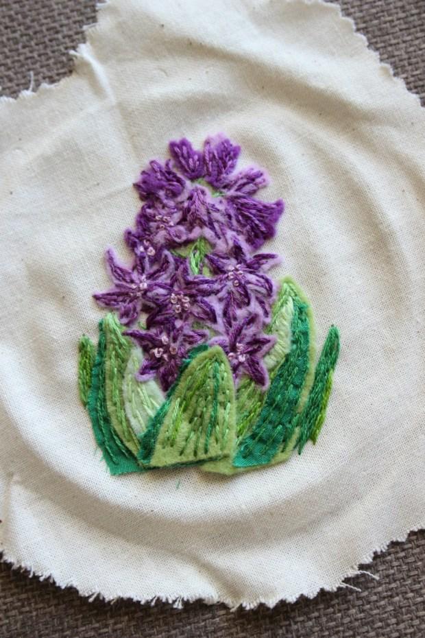 Hyacinth embroidery