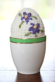 In an egg cup