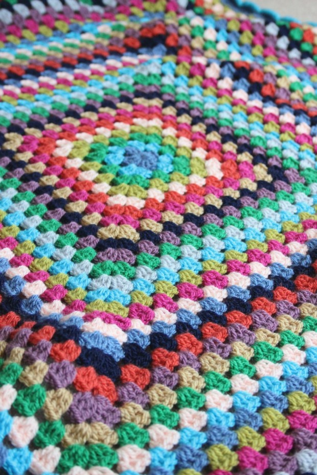 big granny square blanket