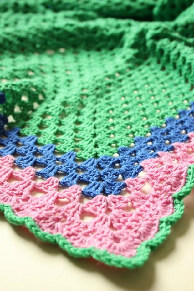 My crochet granny triangle shawl.