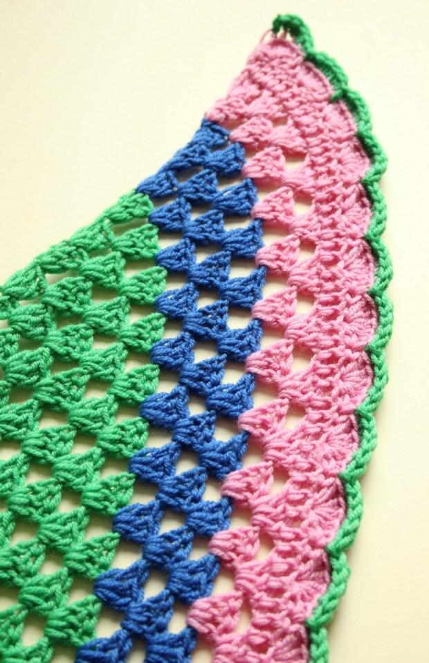 Simple crochet edging.