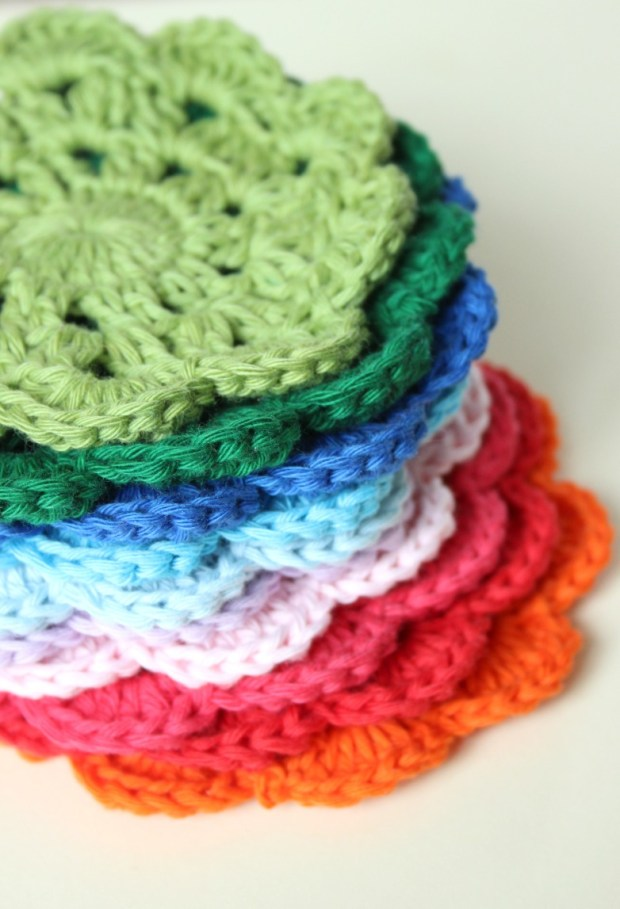 Little crochet coasters