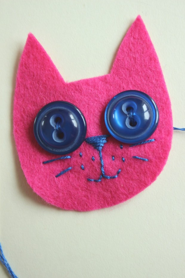 kitty face sewn