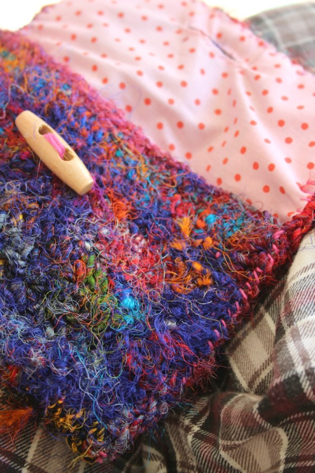crazy crochet purse