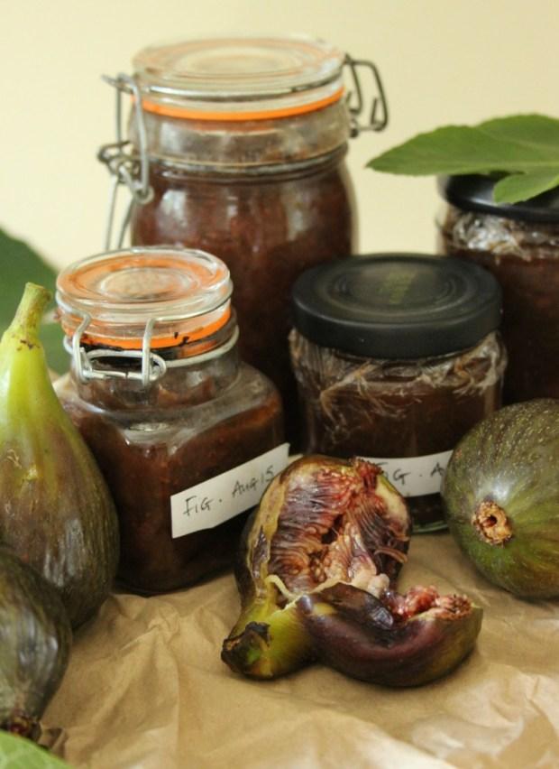 Homemade fig chutney