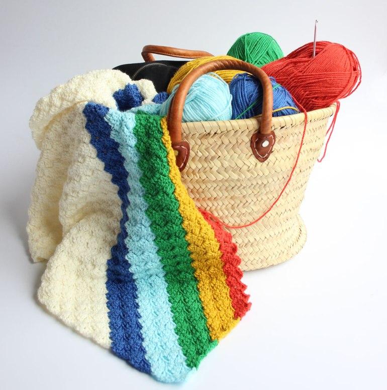 Colourful crochet.