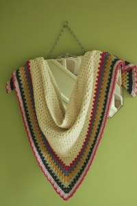 Really Easy Crochet Shawl: A Simple Granny Triangle ...