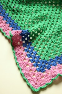 Another Granny Triangle Shawl!  Zeens and Roger