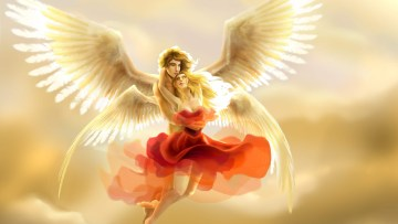 Love Angel and Human Wallpapers Free Download