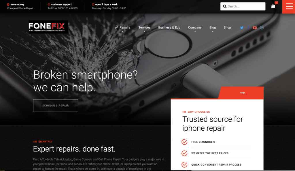Fone Fix | Mobile Phone Repair Website