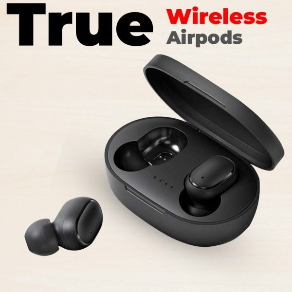 Wireless Earbuds Bluetooth 5.0 Headphone TWS Earphone Noise Reduction Mic With Charging Box - Black
