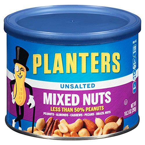 Planters Unsalted Mixed Nuts 4 Count 412 Ounce Zeetreby