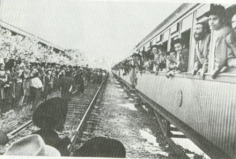 הרכבת המיוחדת וקבלת הפנים שנערכה לרב בביקורו בארץ