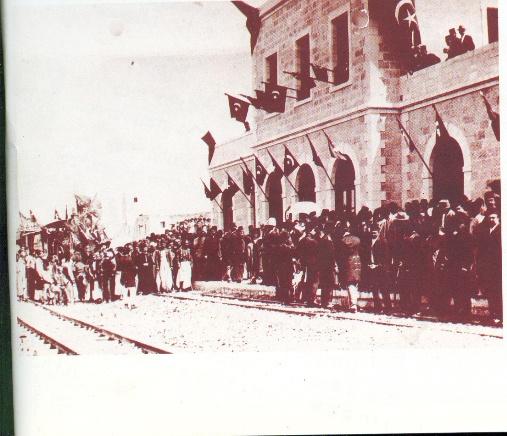 קבלת הפנים שנערכה לרכבת הראשונה  בהגיעה לירושלים