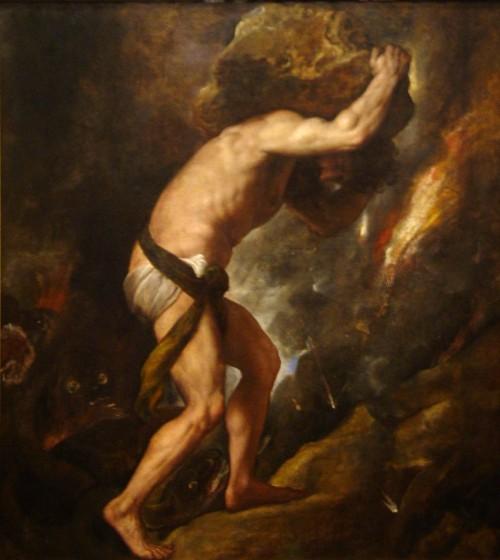 סיזיפוס בציור של טיציאן (ויקישיתוף)