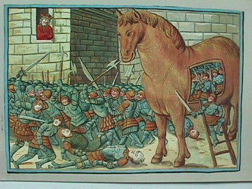 סוס טרויאני (ציור מימי הבינייO)