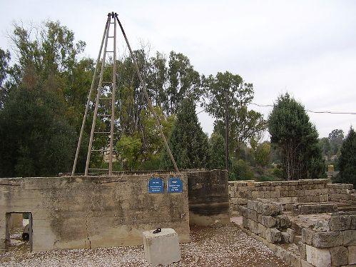 """שיחזור הבאר משנת 1913 ב""""אתר הראשונים בנגב"""" ברוחמה"""