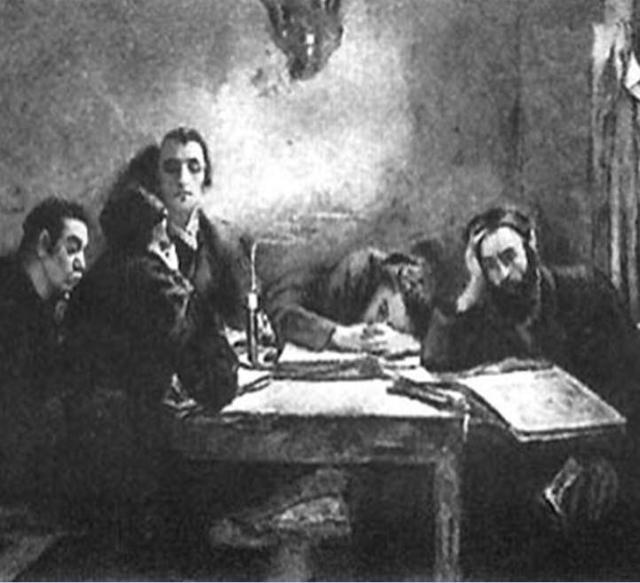 והגית בו יומם ולילה (צייר: סמואל הירשנברג 1865-1908)