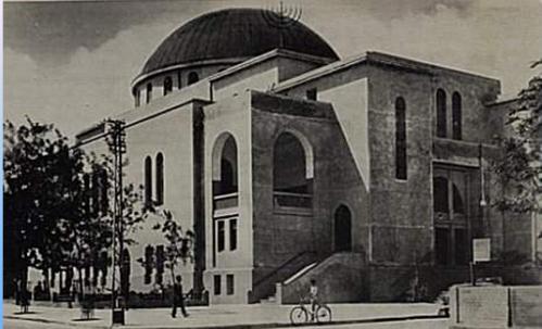 """בית הכנסת הגדול ברחוב אלנבי בת""""א שנות השלושים"""