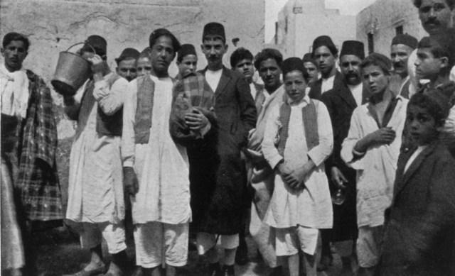 יהודים ברובע היהודי של טריפולי 1925