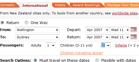 Pictured Above: The current system forces the user to book an adult - confusing if they were trying to book only a child who will be travelling alone.