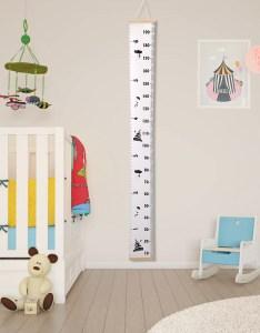 Wood frame kids baby height growth chart wall also hanging ruler nursery rh ebay